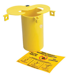 "Brady Yellow 3"" X 5 1/2"" Thermoplastic Prinzing 3-In-1 Plug Lockout With  Sliding Top Lids"