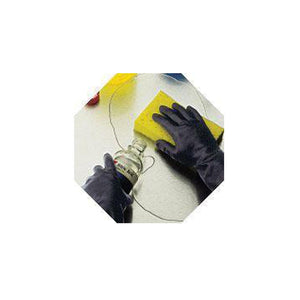 "Best Chloroflex Chemical Resistant Unsupported Neoprene 12"", 28-Mil Rayon Flock Lined Tractor-Tread Grip Latex-Free Liner Glove"