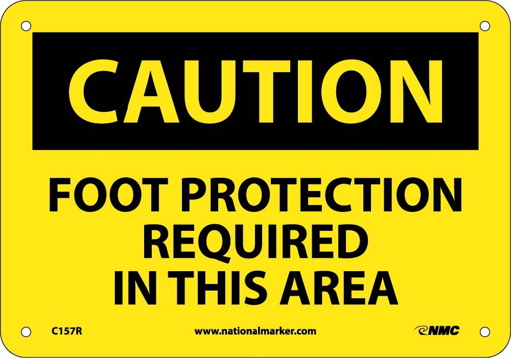 Foot Protection Required In This Area Sign