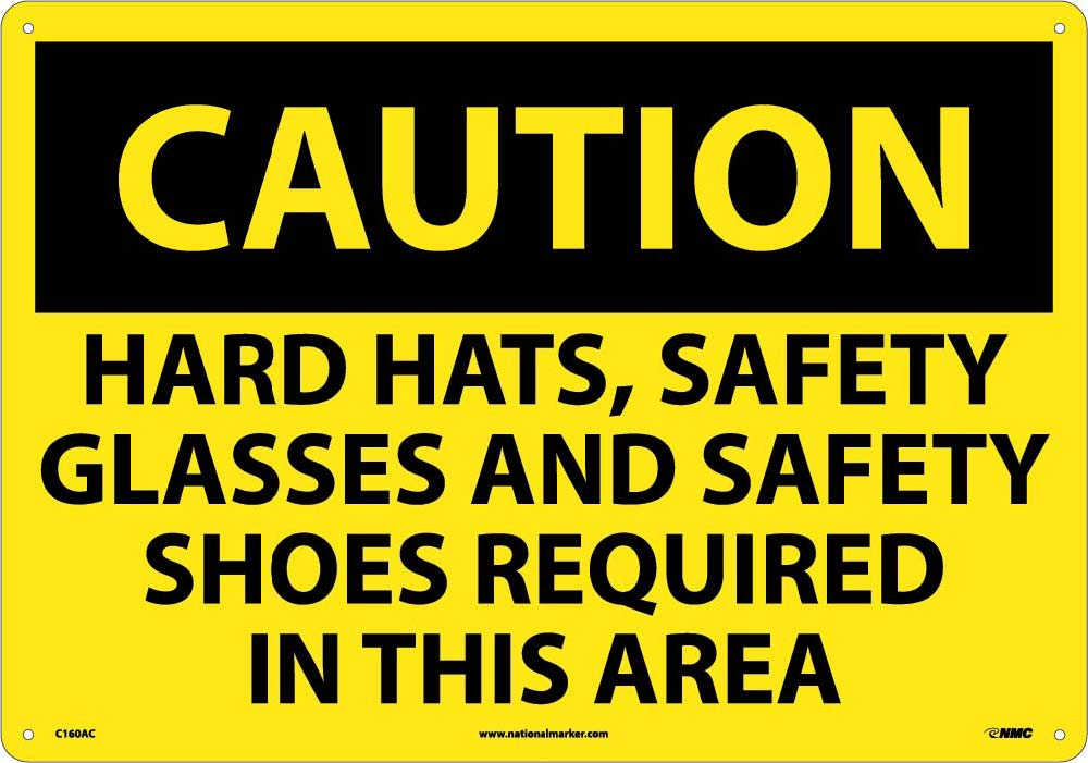 Large Format Caution Ppe Required Sign