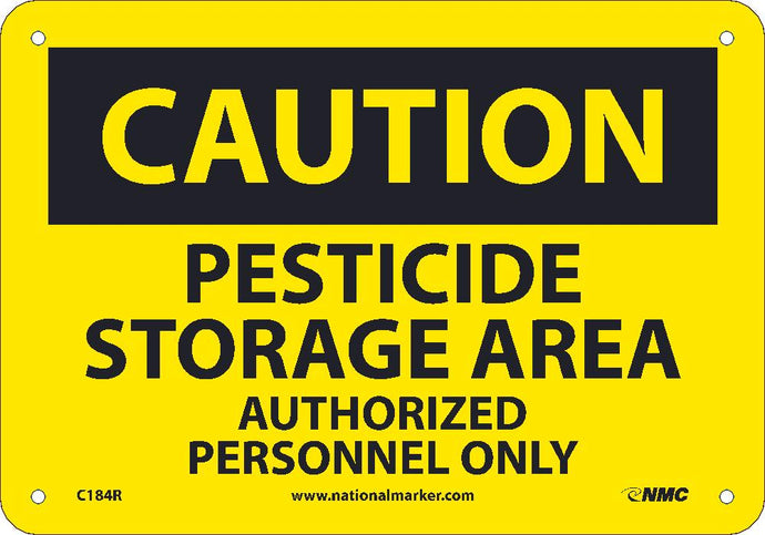 Caution Pesticide Storage Area Sign