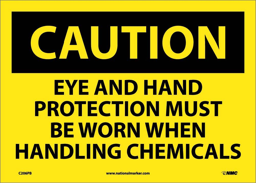 Eye And Hand Protection Must Be Worn Whe Sign