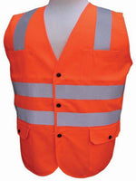 3A Safety - ANSI Certified Polyester Safety Vest - Solid/Mesh