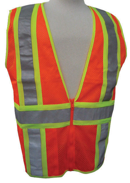 3A Safety - ANSI Certified Mesh Flagger Safety Vest