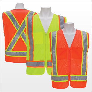3A Safety - X Pattern Design ANSI Class II Safety Vest