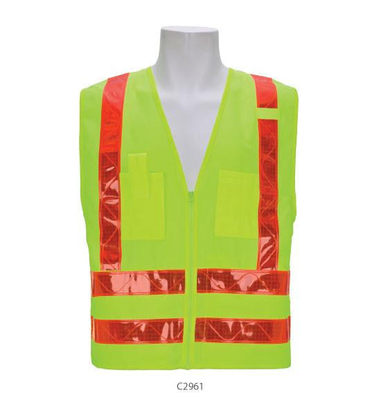 3A Safety C2961 4XL Class 2 Cargo Vest With Red Lime
