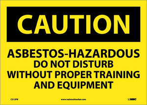 Asbestos Hazardous Do Not Distu Sign