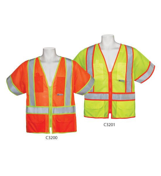 3A Safety C3201 5XL ANSI Class 3 Vests With Sleeves
