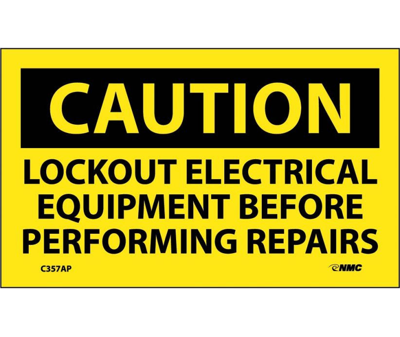 Lockout Electrical Equipment Before Perf Label - 5 Pack