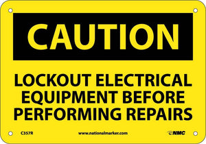 Caution Lockout Electrical Equipment Sign