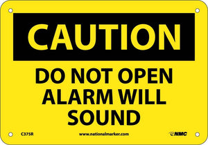 Do Not Open Alarm Will Sound Sign