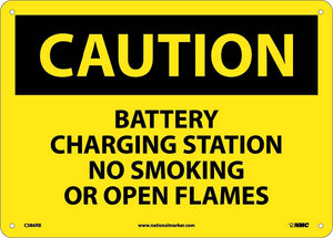 Caution Battery Charging Station Sign