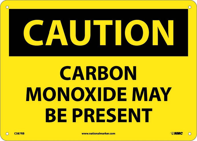 Caution Carbon Monoxide May Be Present Sign