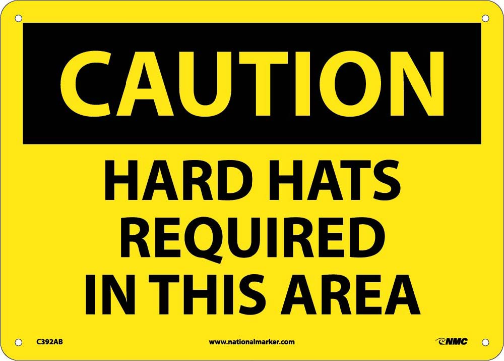 Caution Hard Hats Required In This Area Sign