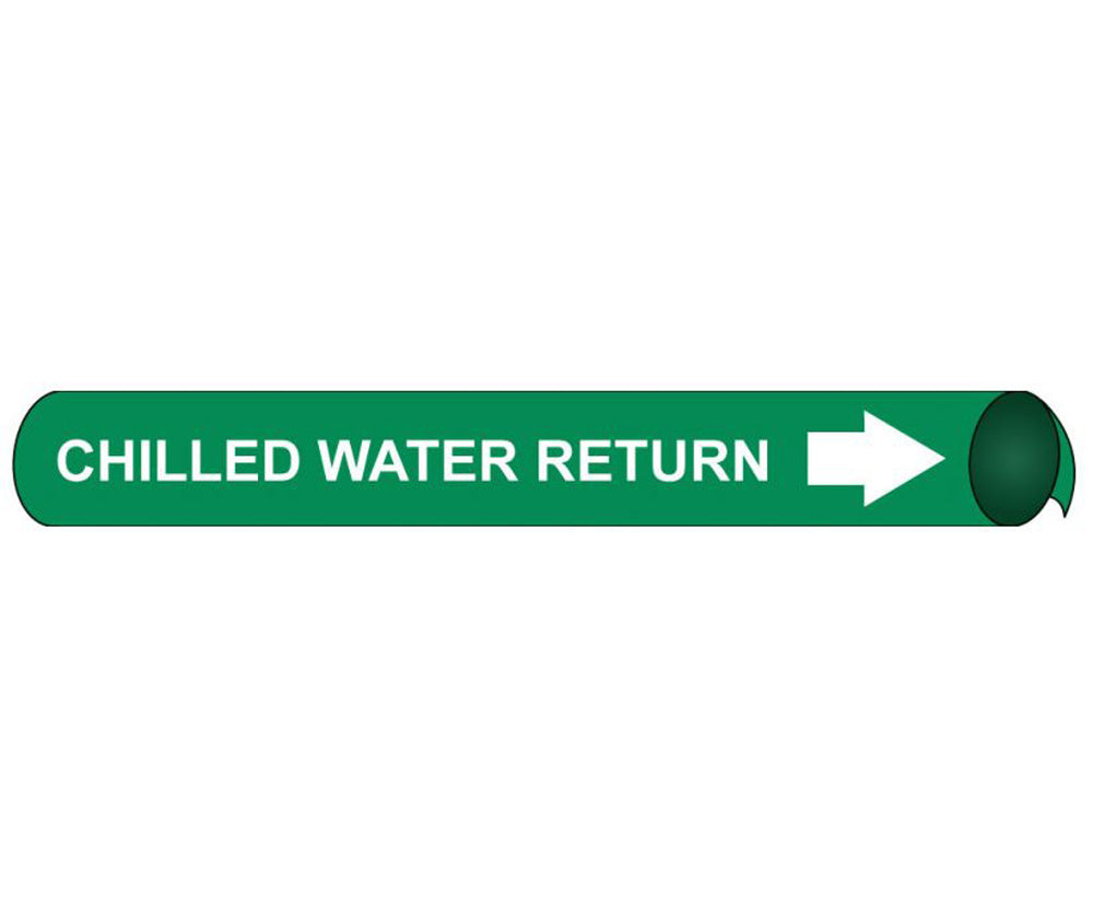 Chilled Water Return Precoiled/Strap-On Pipe Marker