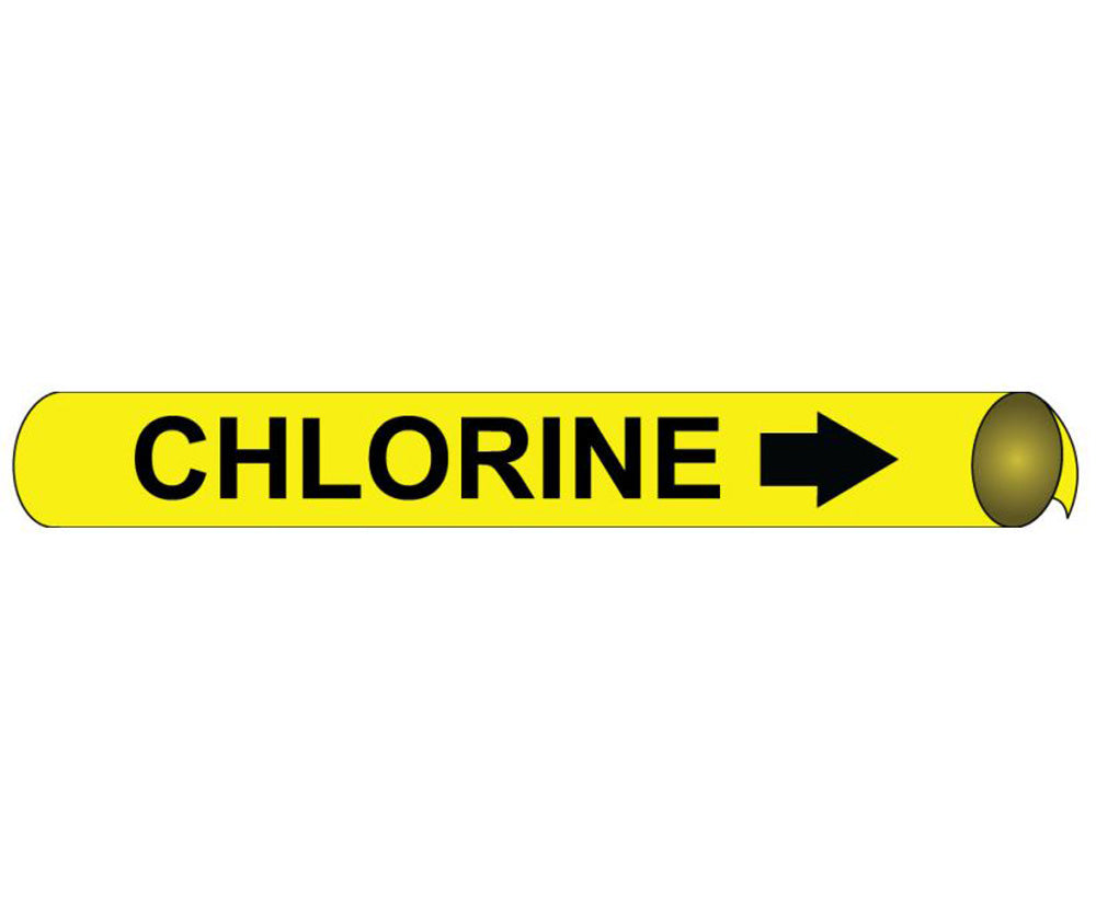 Chlorine Precoiled/Strap-On Pipe Marker