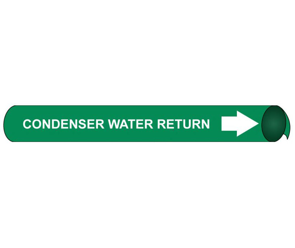 Condenser Water Return Precoiled/Strap-On Pipe Marker