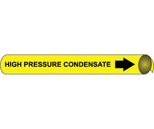 High Pressure Condensate Precoiled/Strap-On Pipe Marker