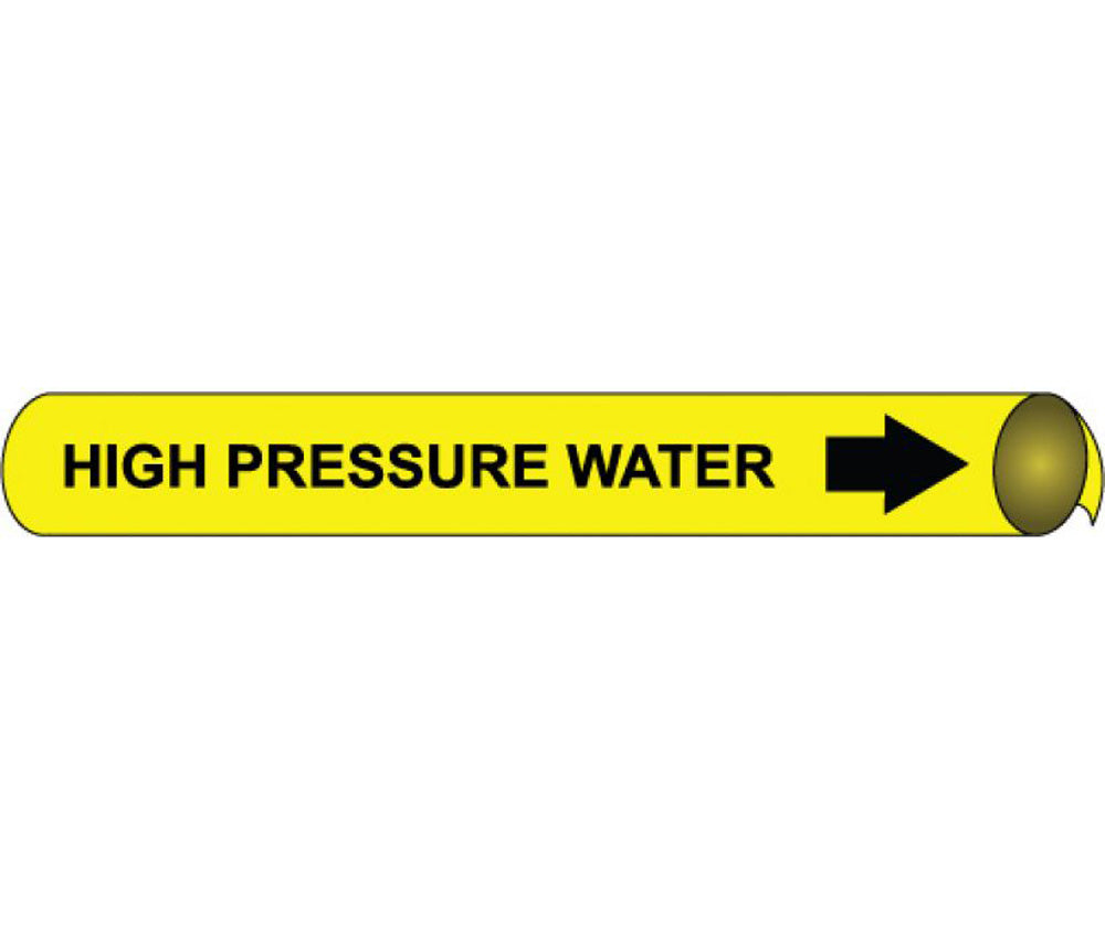 High Pressure Water Precoiled/Strap-On Pipe Marker