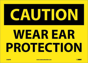 Caution Wear Ear Protection Sign