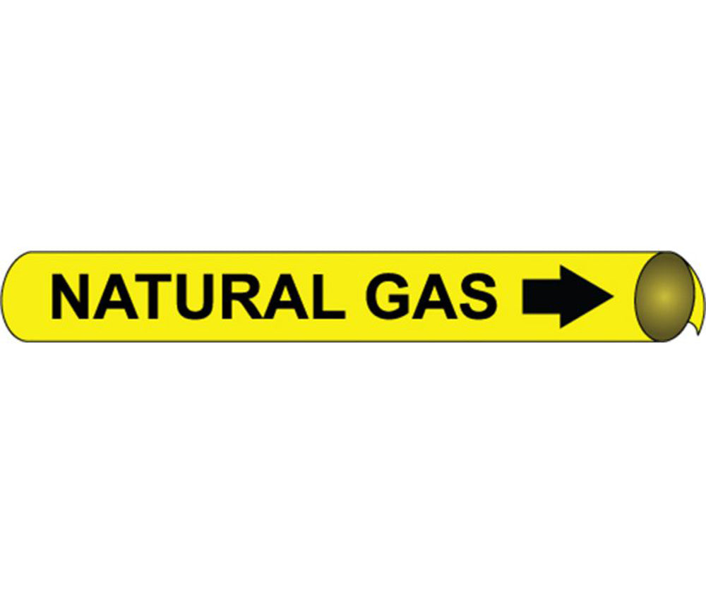 Natural Gas Precoiled/Strap-On Pipe Marker