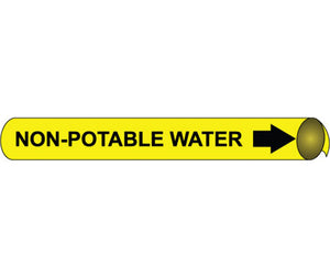 Non-Potable Water Precoiled/Strap-On Pipe Marker