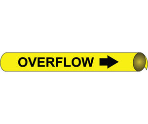 Overflow Precoiled/Strap-On Pipe Marker