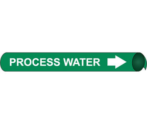 Process Water Precoiled/Strap-On Pipe Marker