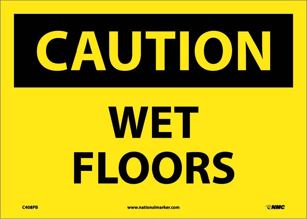 Caution Wet Floors Sign