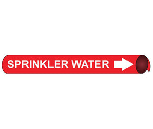 Sprinkler Water Precoiled/Strap-On Pipe Marker