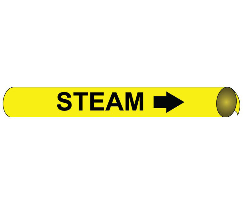 Steam Precoiled/Strap-On Pipe Marker