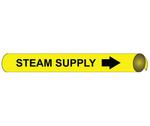 Steam Supply Precoiled/Strap-On Pipe Marker