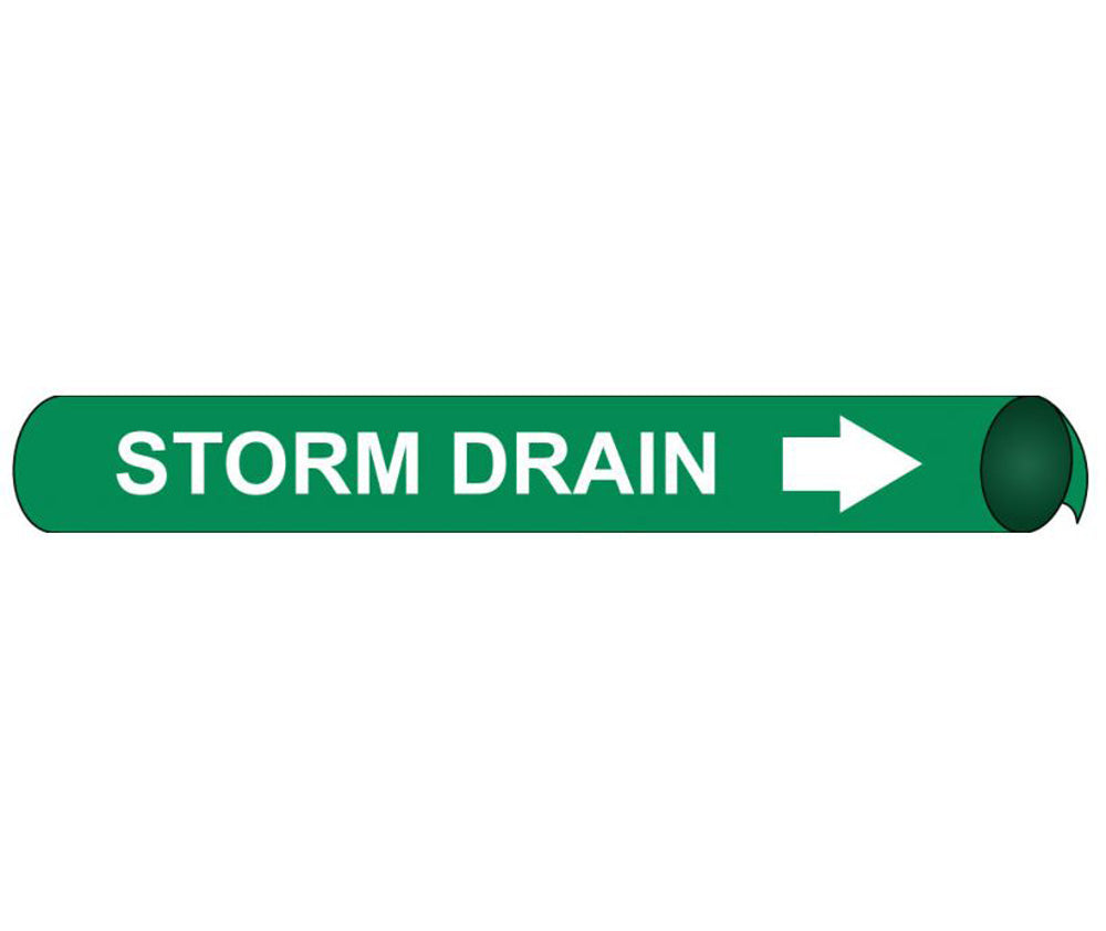 Storm Drain Precoiled/Strap-On Pipe Marker