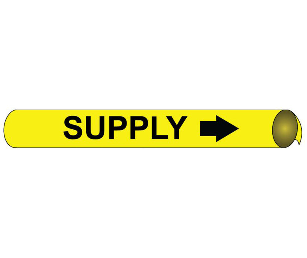 Supply  Precoiled/Strap-On Pipe Marker