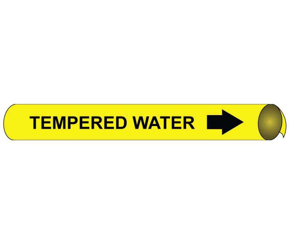 Tempered Water Precoiled/Strap-On Pipe Marker