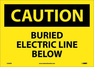 Caution Buried Electric Line Below