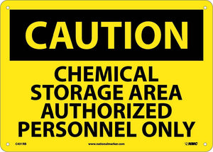 Caution Chemical Storage Area Sign