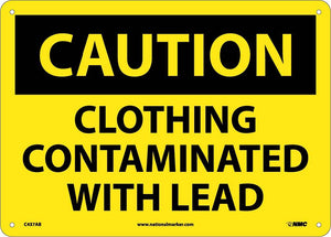 Clothing Contaminated With Lead Sign