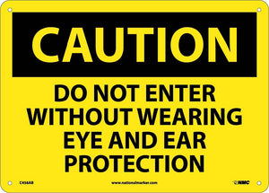 Do Not Enter Without Wearing.. Sign