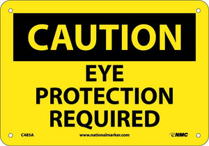 Caution Eye Protection Required Sign