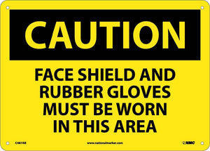 Caution Multi Protection Safety Sign