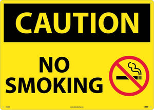 Large Format Caution No Smoking Sign