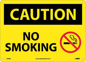 Caution No Smoking Sign