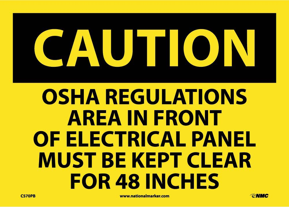 Caution Electrical Hazard Sign