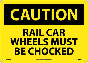 Rail Car Wheels Must Be Cho.. Sign