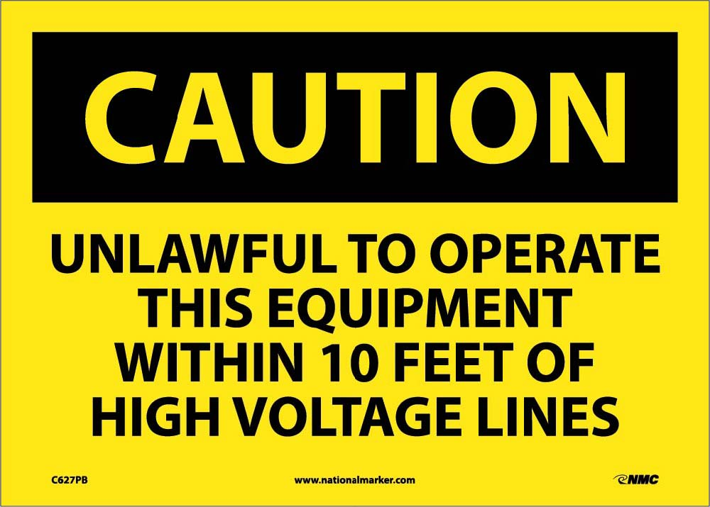 Unlawful To Operate This Equipment Wi.. Sign