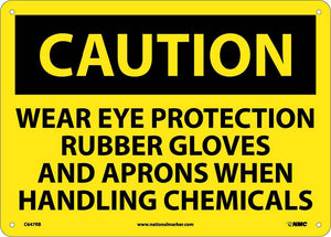 Caution Wear Ppe When Handling Chemicals Sign