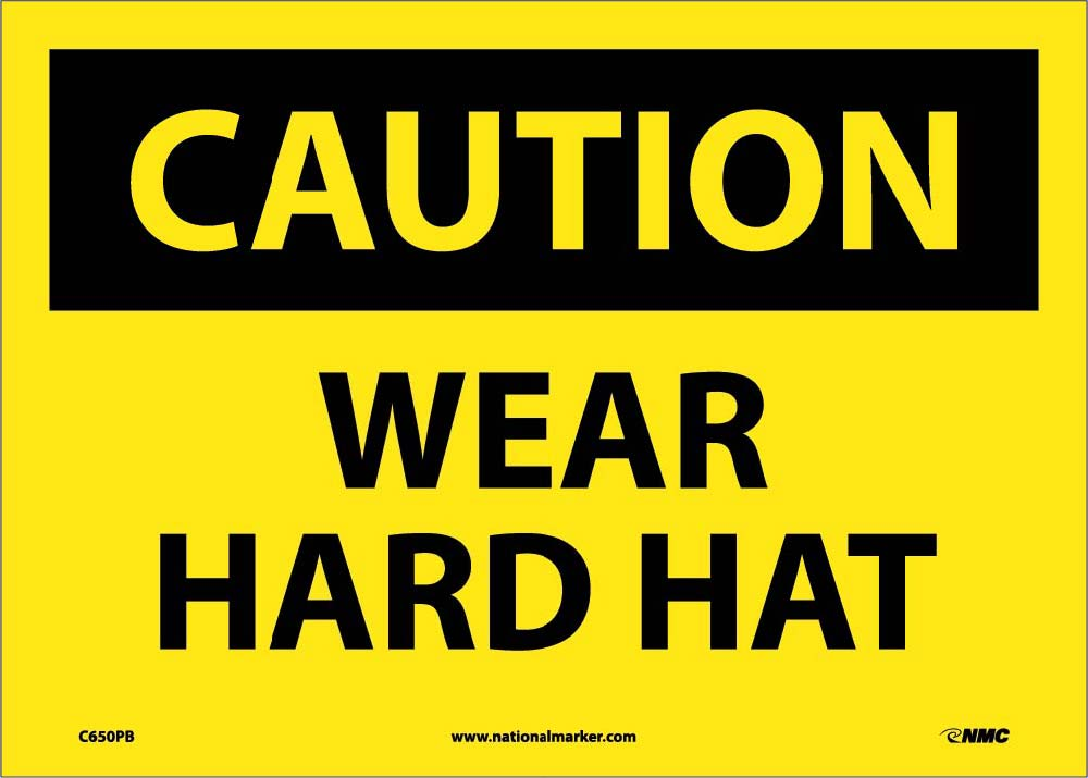 Caution Wear Hard Hat Sign