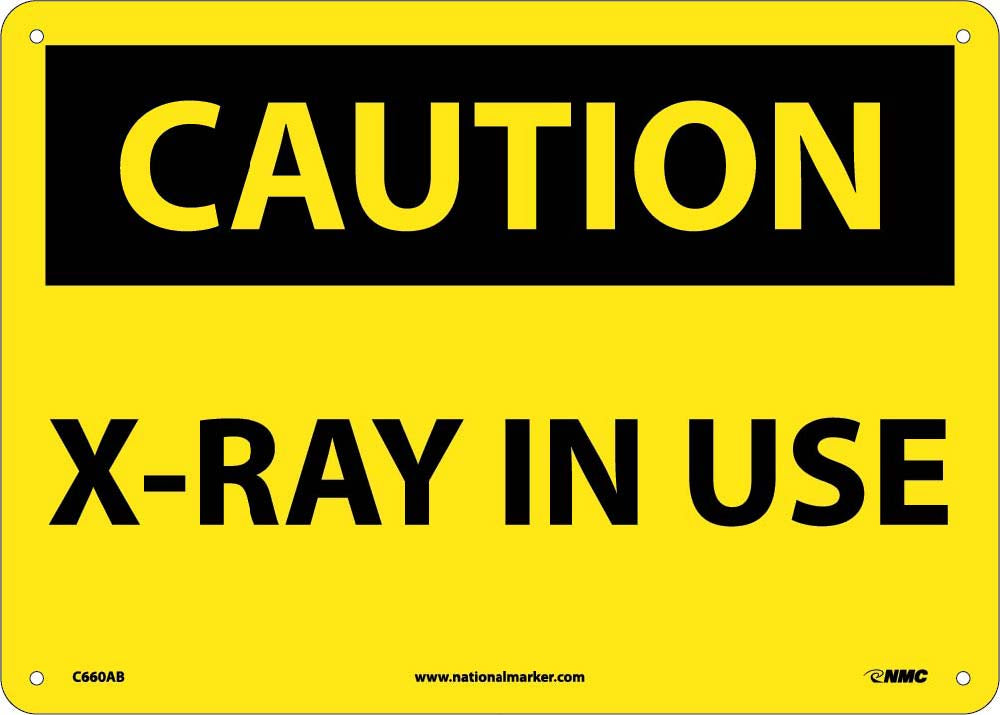 Caution X-Ray In Use Sign
