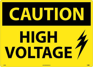 Large Format Caution High Voltage Sign
